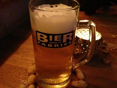 Bierpul bij de Bierfabriek in Amsterdam