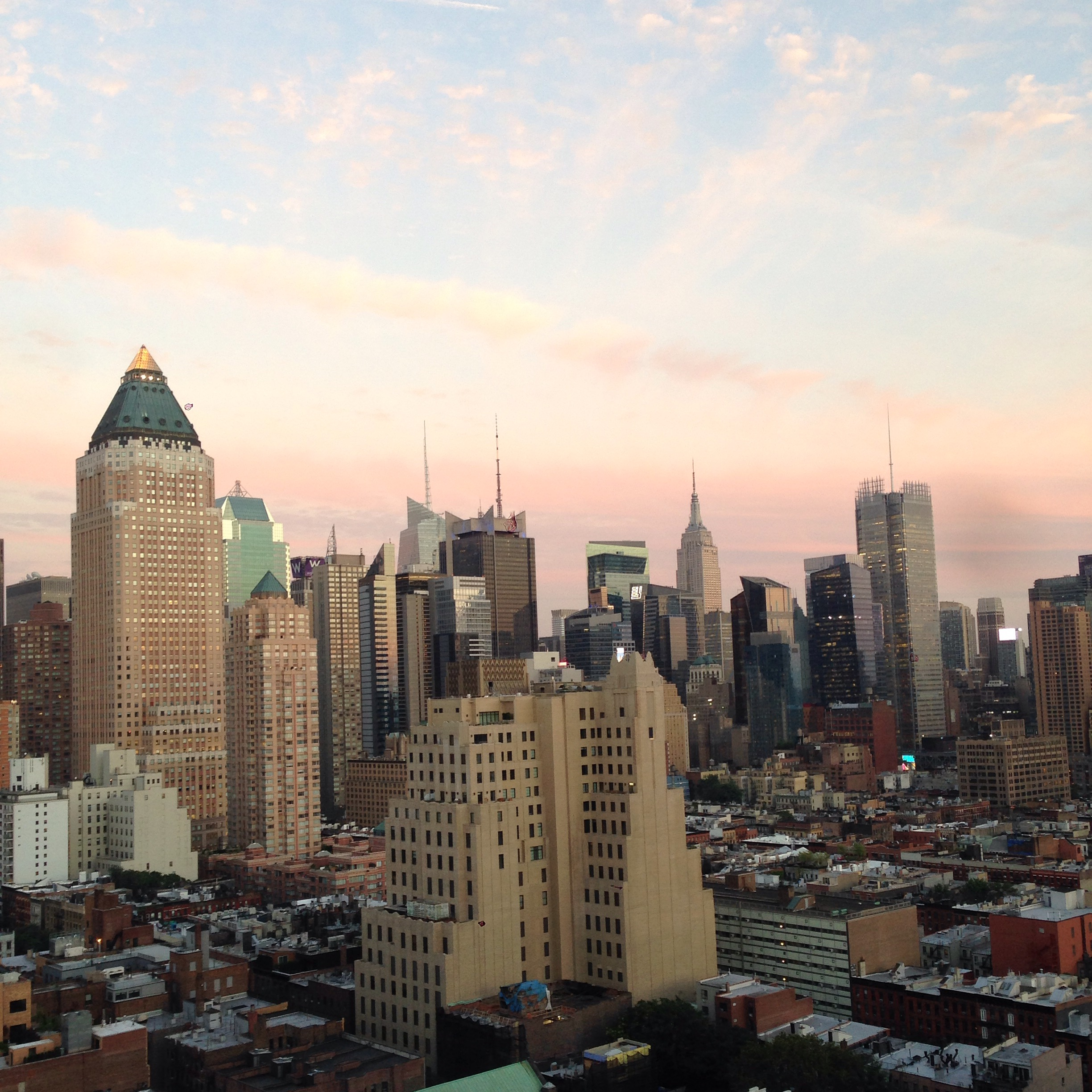 Rooftop view over Midtown Manhattan