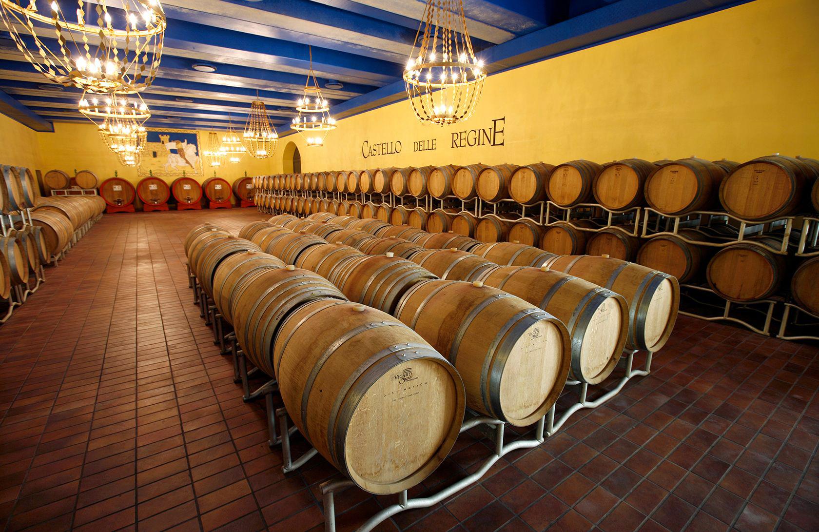 Wine cellar Castello delle Regine