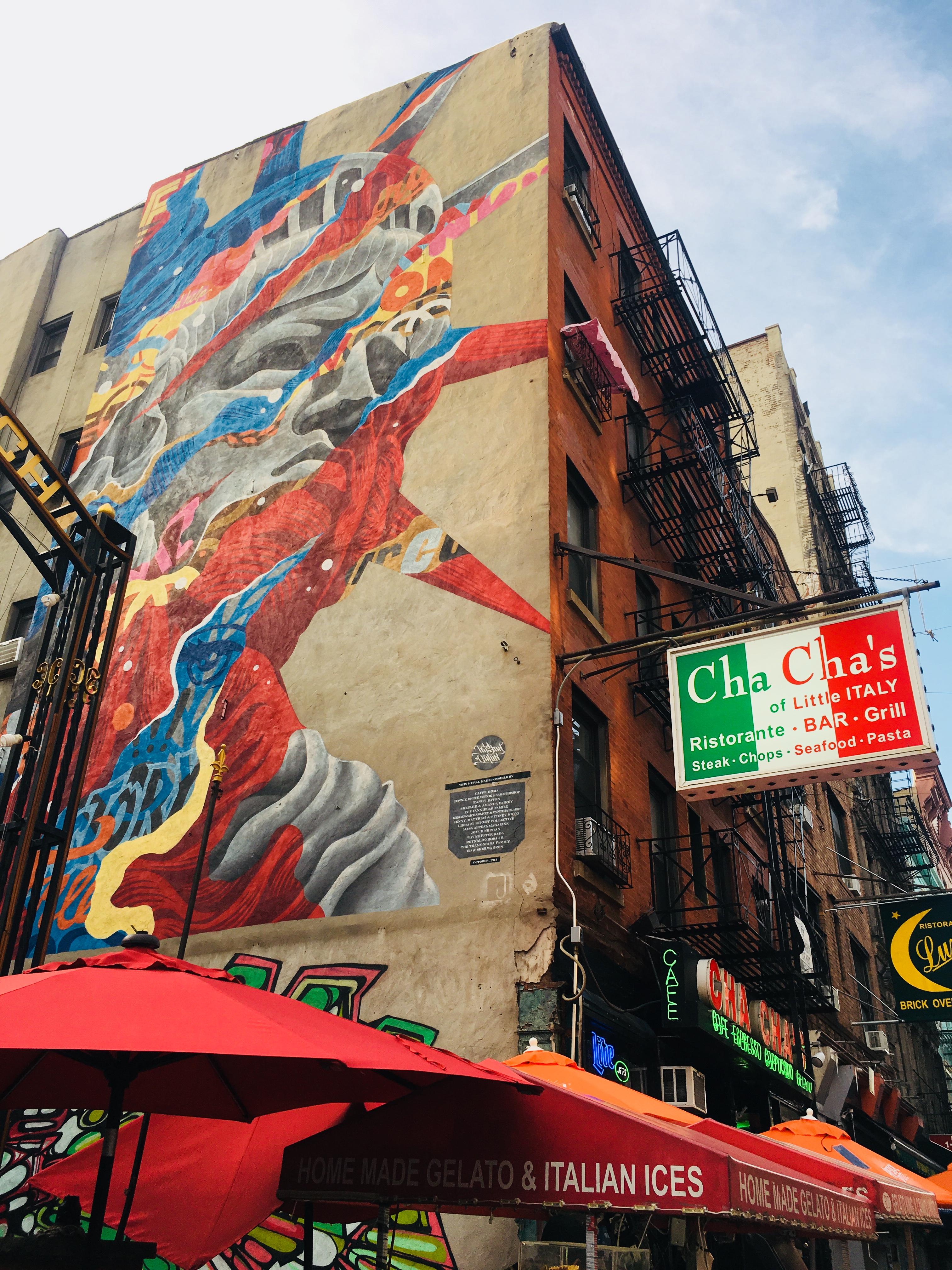 Street art op tour door New York