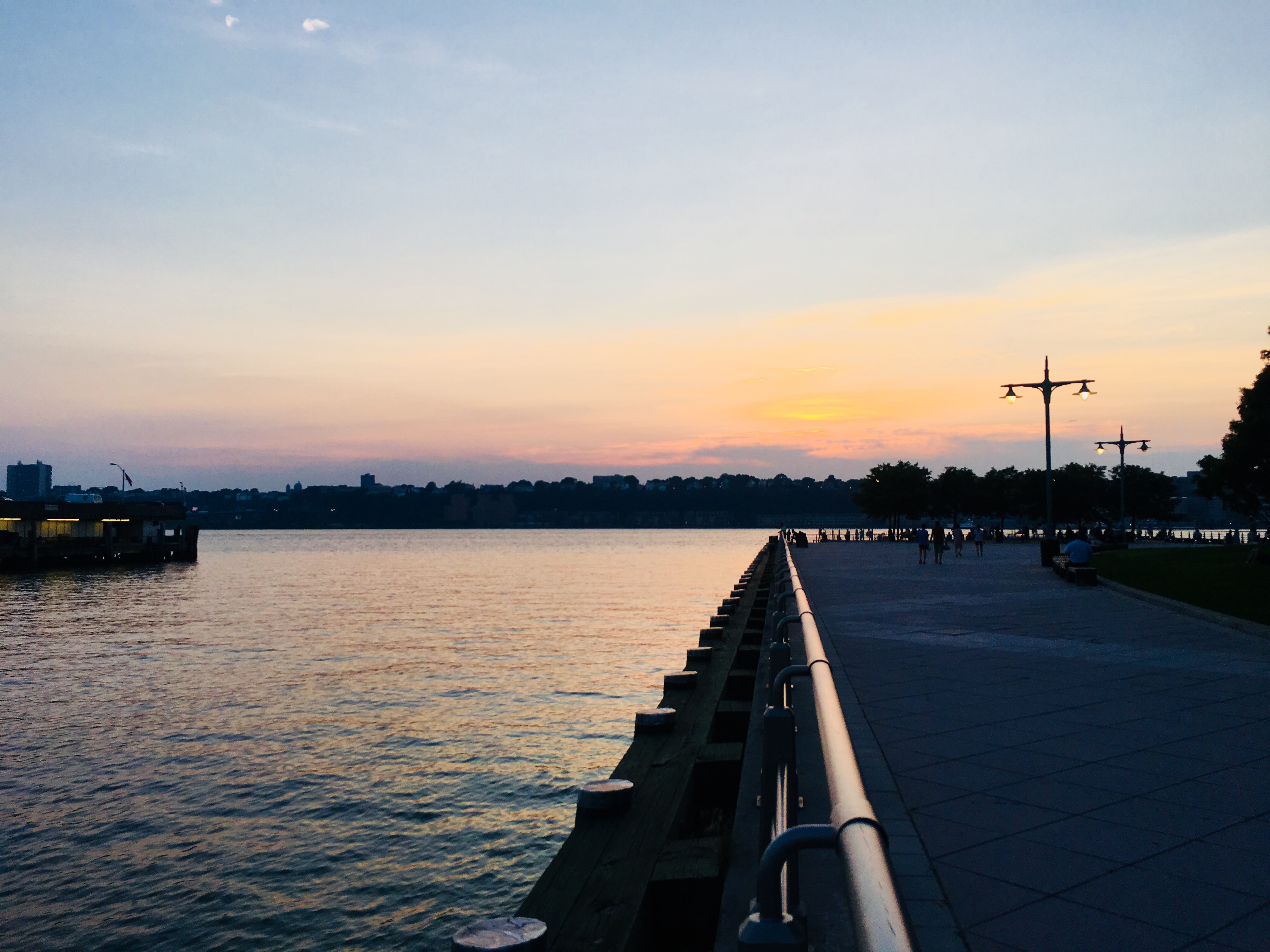 Hardlopen langs de Hudson river