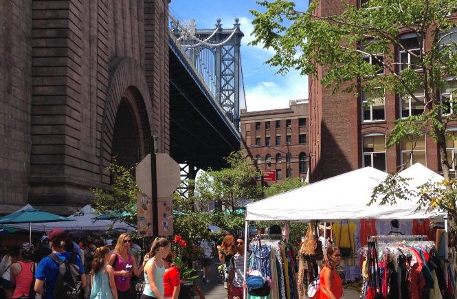 Flea market in DUMBO, Brooklyn