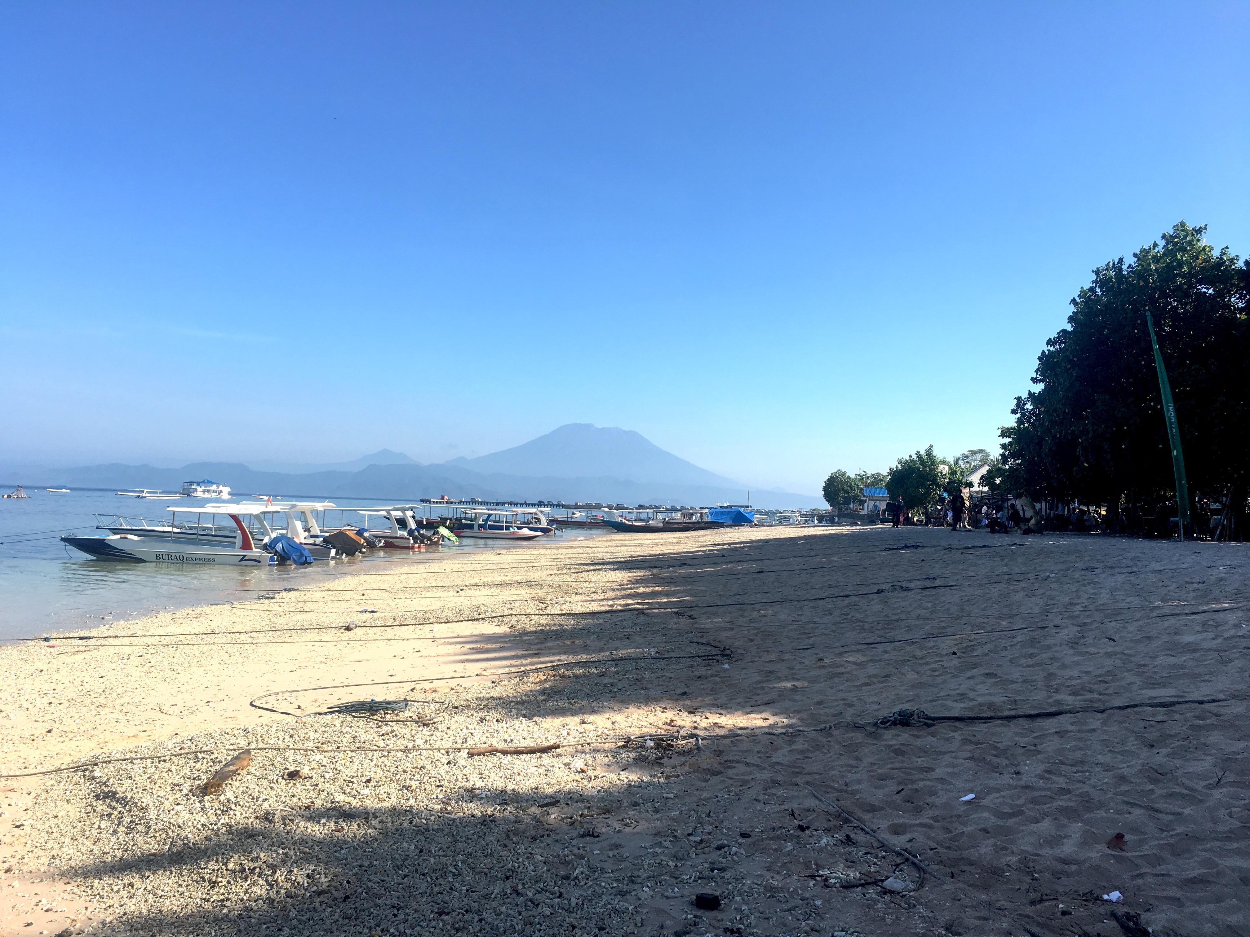 Aankomst bij Nusa Penida